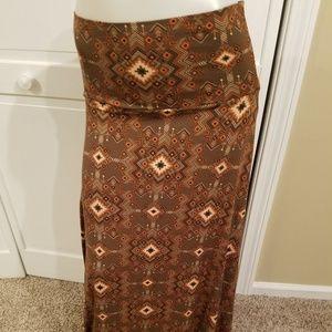 LuLaRoe Small Gorgeous Maxi Skirt NWOT